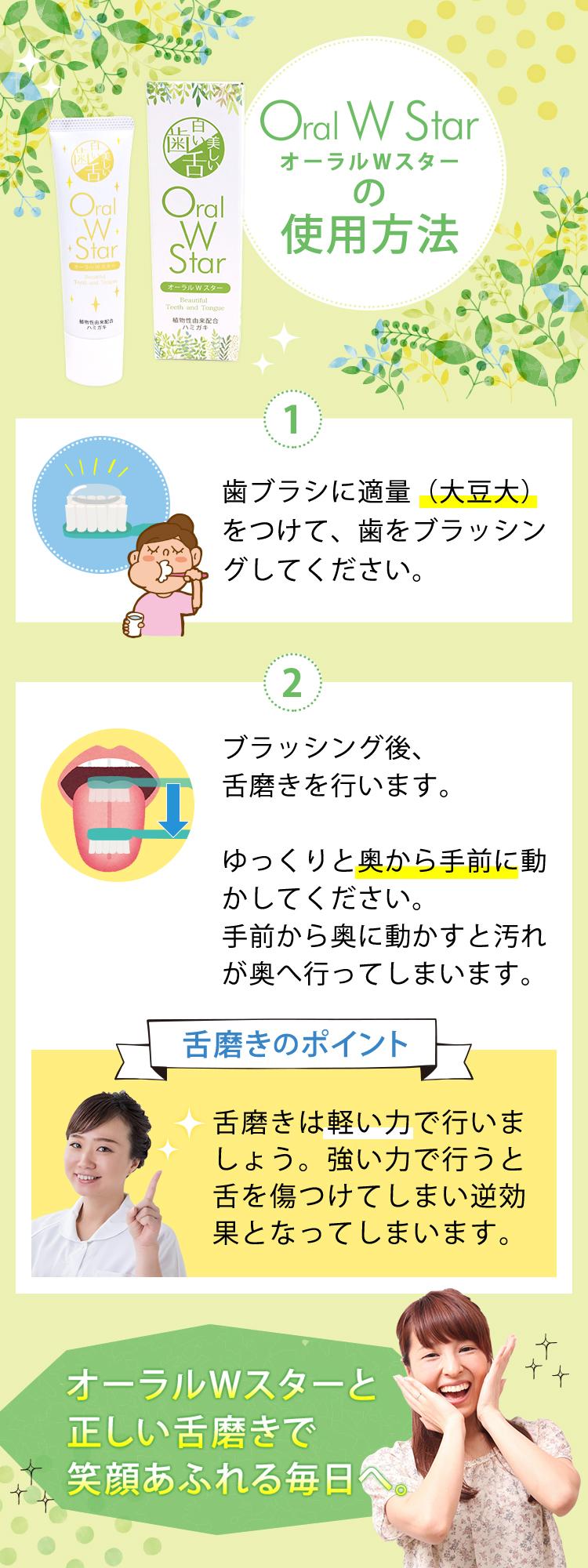使用方法 正しい舌磨き